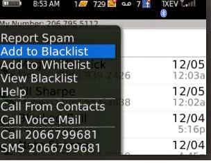 Cara Mudah Block atau Blacklis Nomor Hp di Blackberry