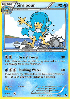 Simipour Emerging Powers set Pokemon Card