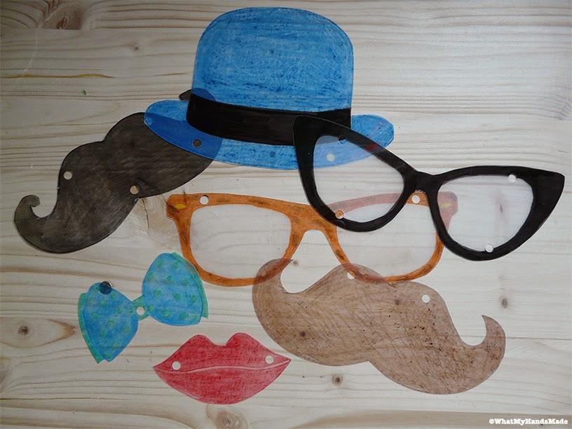 Découpe plastique fou - Moustache, lunettes
