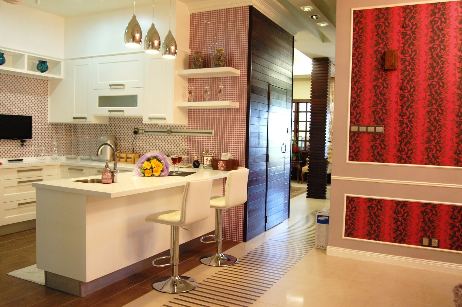 Kitchen Cabinet Malaysia. Behind This Dry Kitchen Is The Powder Room, And  Adjoins To The Living Hall.