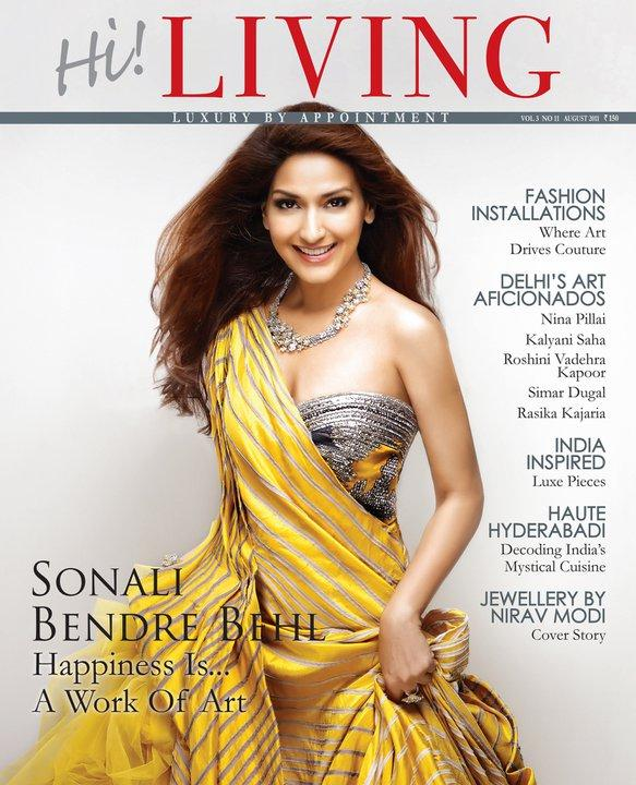 Sonali Bendre  Hi Living Cover - Sonali Bendre On Hi! Living Magazine Cover August 2011 Edition