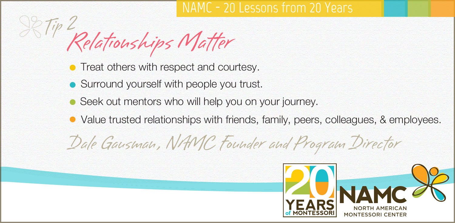 NAMC's 20 Lessons from 20 Years Relationships Matter