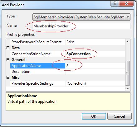 .NET User provider