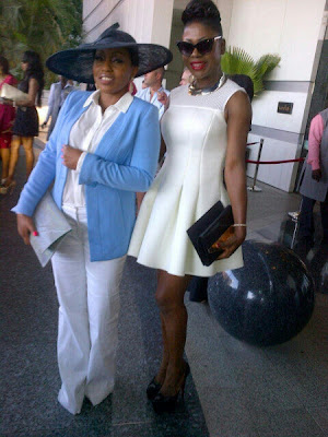 Rita Dominic and Susan Peters at 2face's wedding