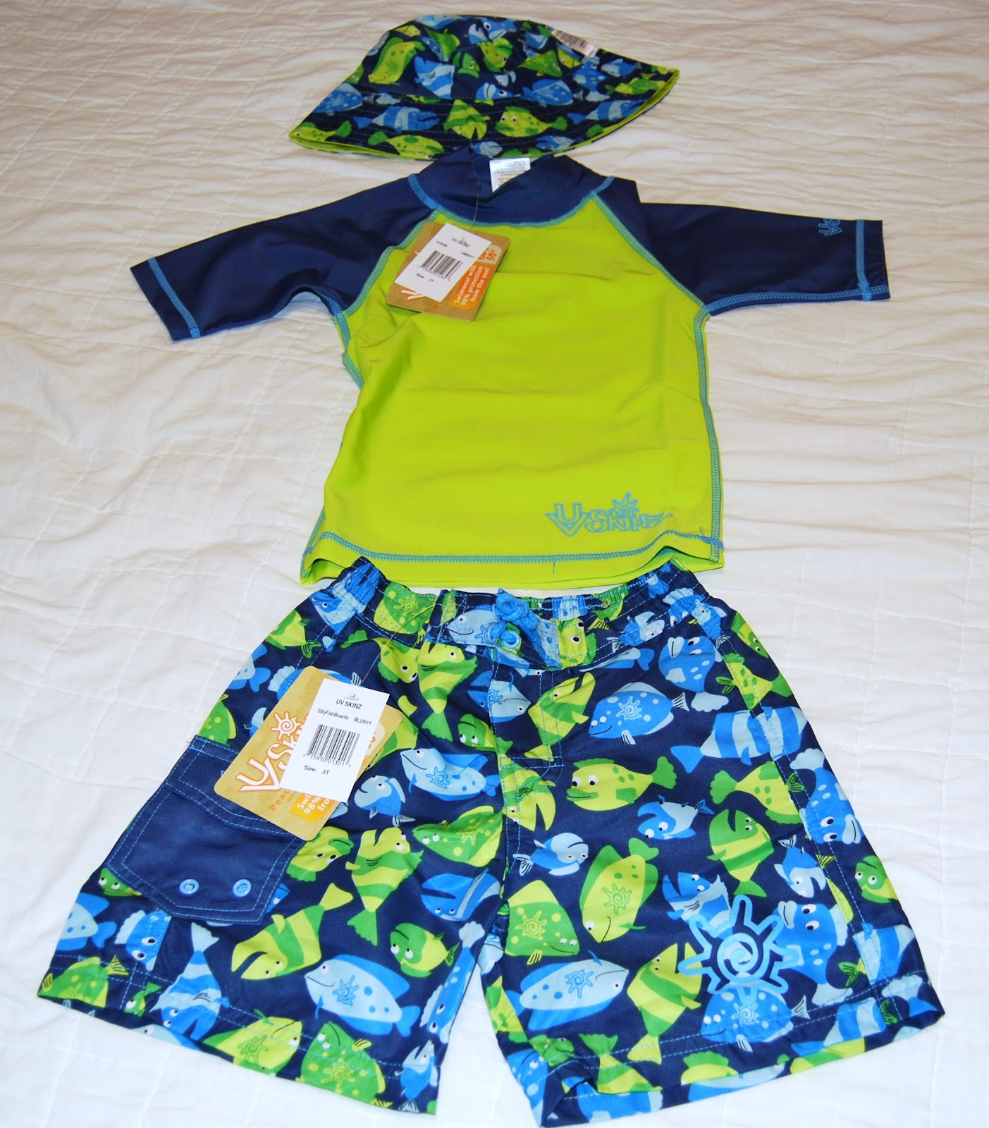 Life With My Littles UV Skinz 3 piece sun protection clothing