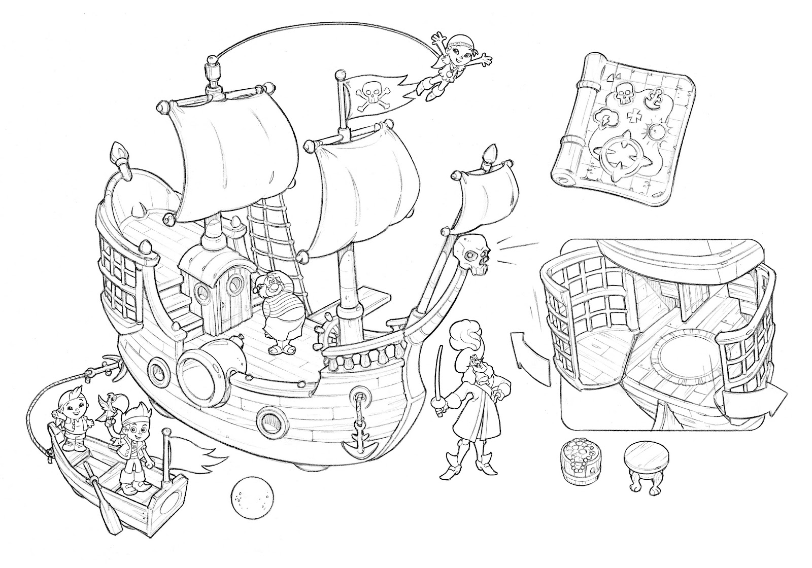 Free coloring pages jake and the neverland pirates