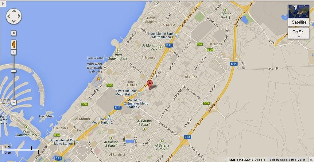 UAE Dubai Metro City Streets Hotels Airport Travel Map Info Detail Insportz
