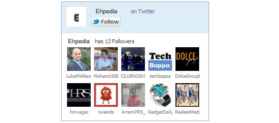 Cara Memasang Twitter Followers Widget Pada Blogger