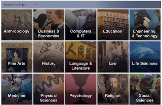 Screen shots of ebrary subject areas