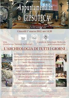 """Succede a Pisa: """"L'Archeologia di tutti i giorni"""" e gli incontri con ANA Toscana."""