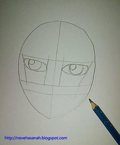 tambahkan bagian berupa lingkaran putih pada bola mata untuk pantulan cahaya untuk membuat mata menjadi kelihatan hidup