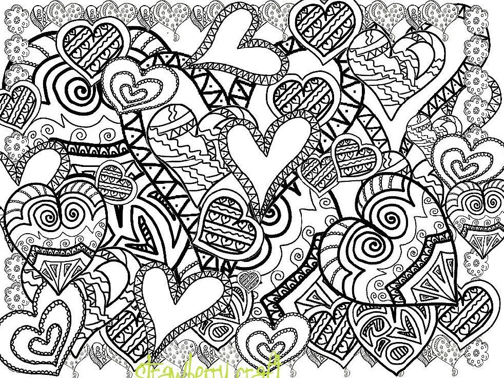 Gambar Mewarnai Love Cinta Untuk Orang Dewasa