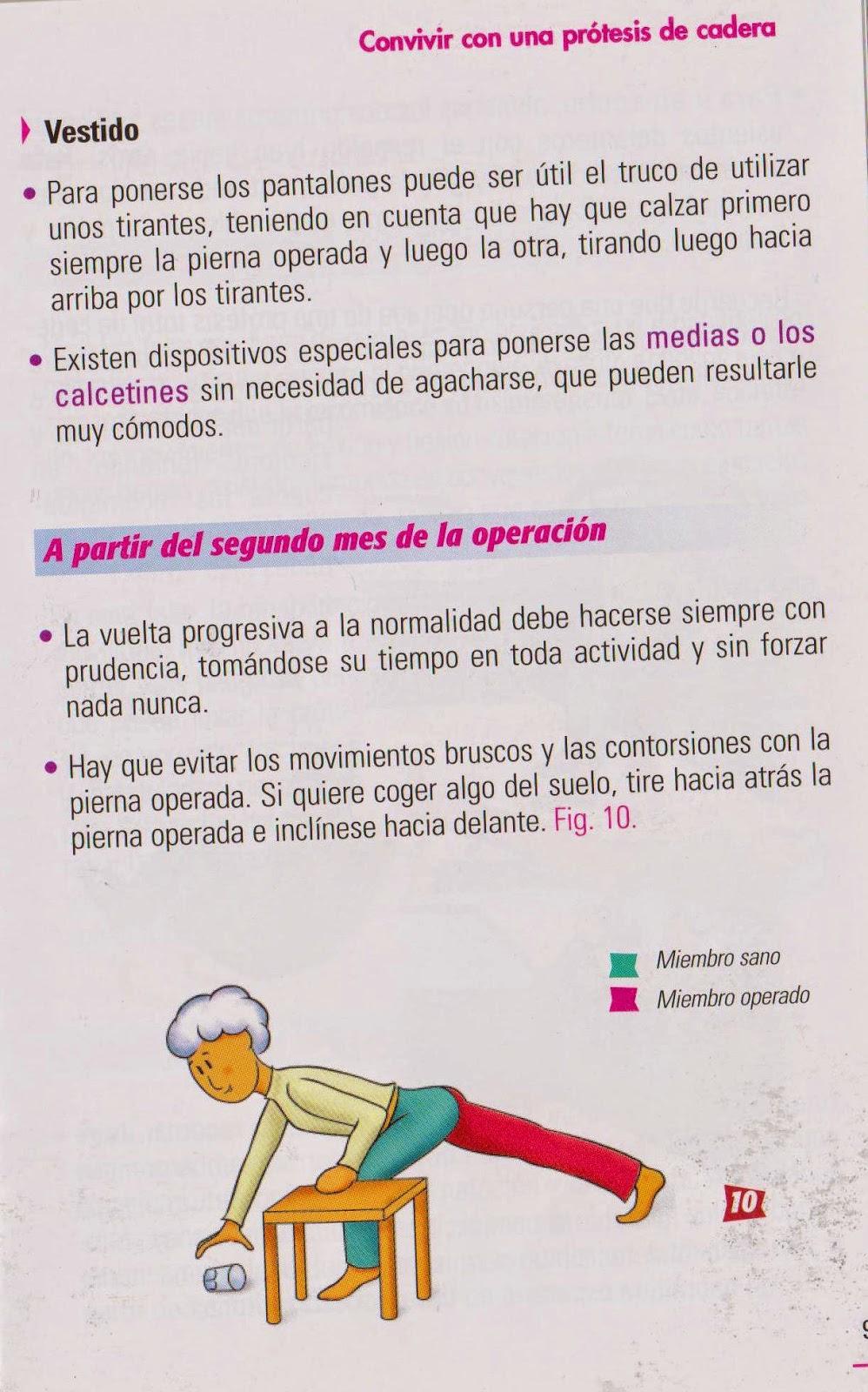 Consejos prácticos después de una prótesis de cadera