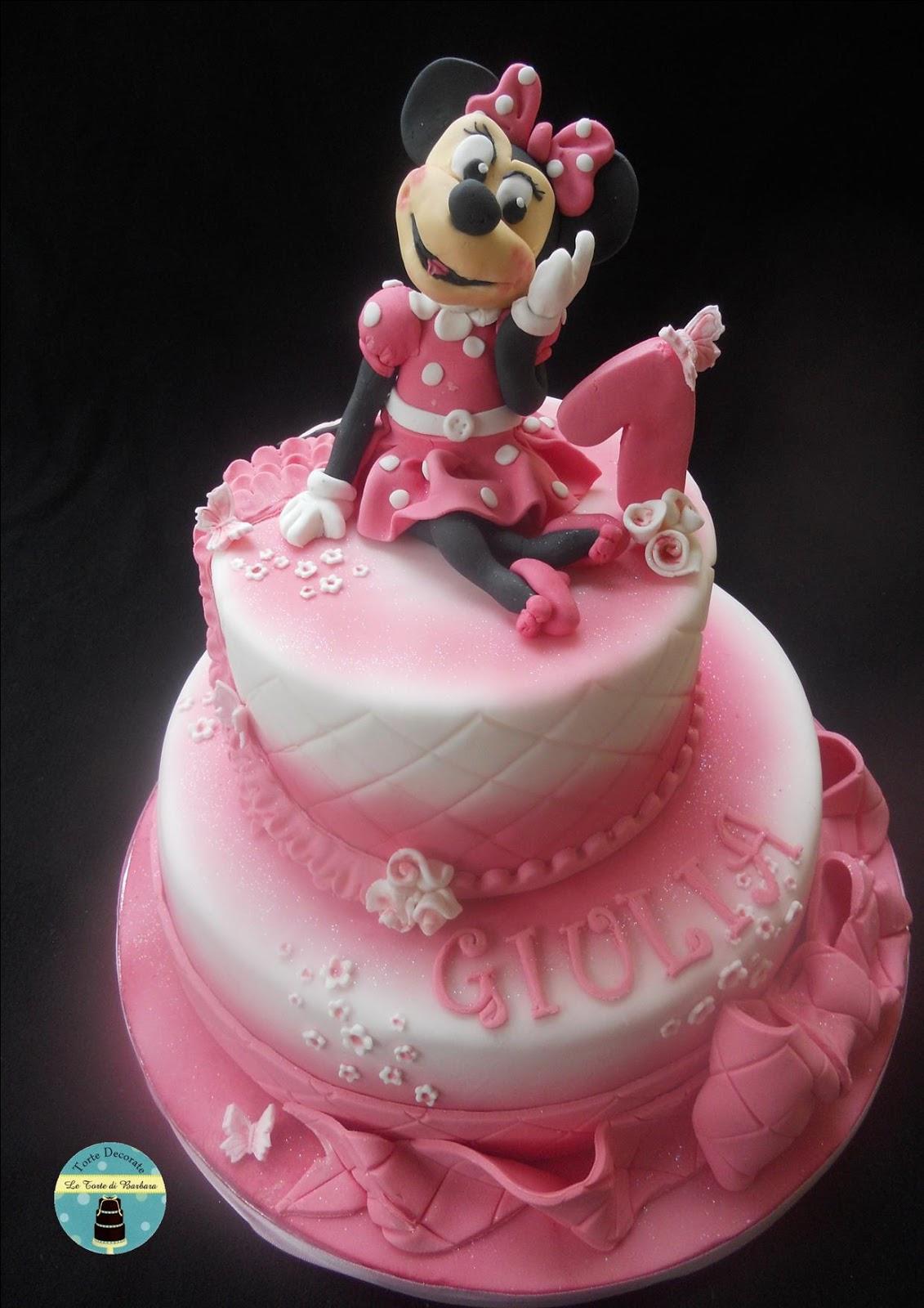 Preferenza Le Torte di Barbara: Torta Minnie per il primo compleanno!! IK77
