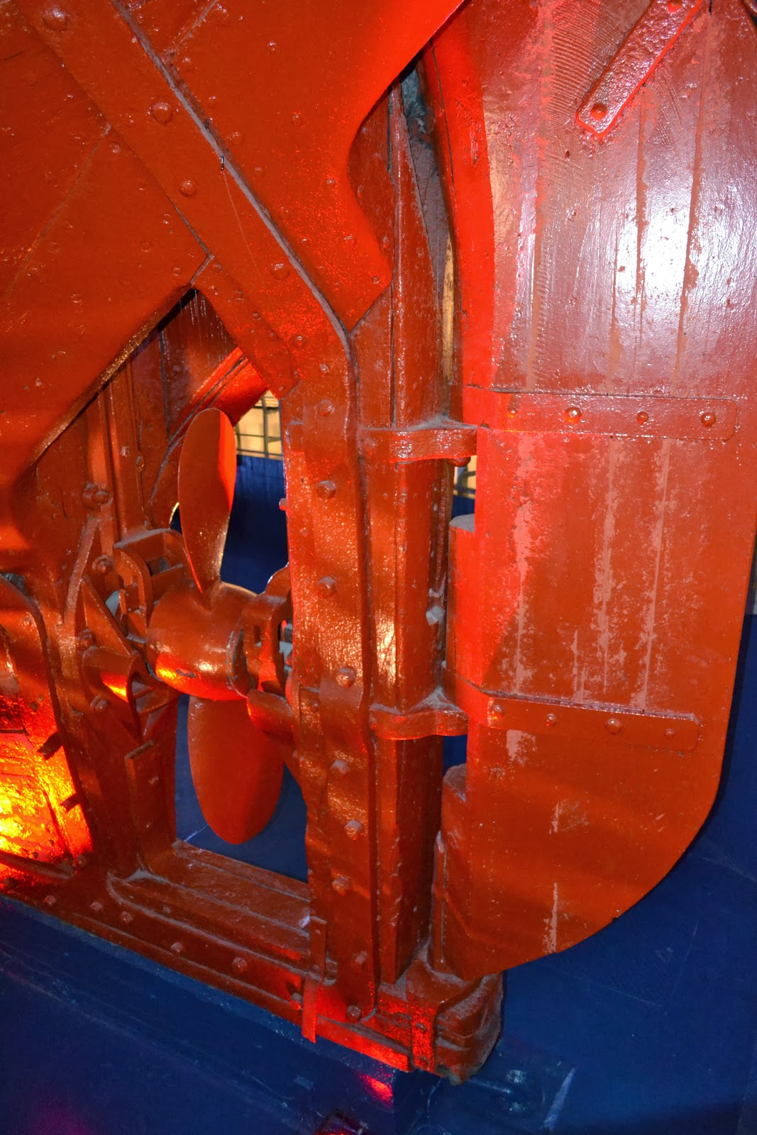 Rudder and propeller of the fram