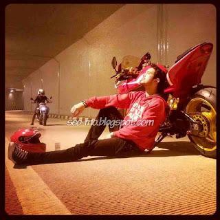 Foto Doni Michael Dengan Motor Sport nya Keren