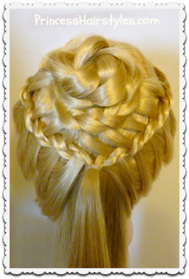 braided flower corsage hairstyle video tutorial