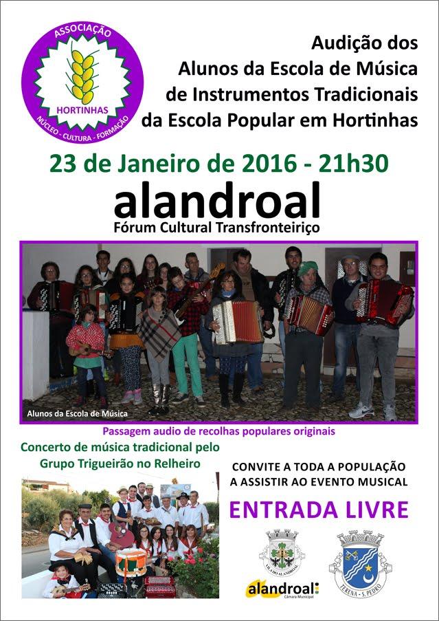 Audição dos Alunos da Escola de Música de Instrumentos Tradicionais da Escola Popular em Hortinhas