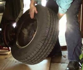 removing tire from Chevy Blazer
