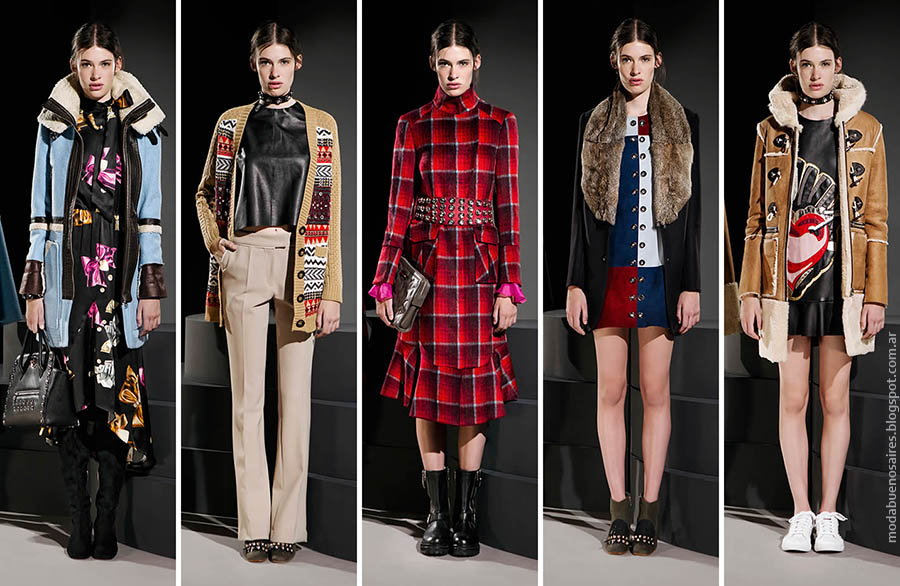 Moda otoño invierno 2015. Abrigos, faldas, vestidos, pantalones Jazmín Chebar otoño invierno 2015.