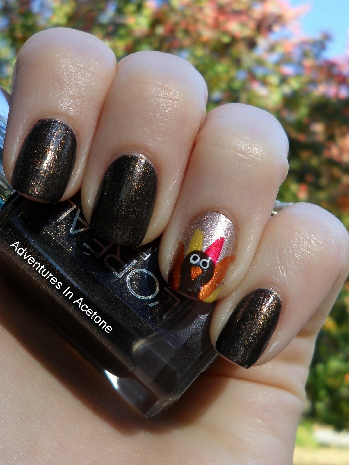 Turkey Nails + Tutorial! - Adventures In Acetone