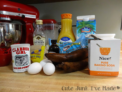 Skinny Coconut Banana Bread Ingredients