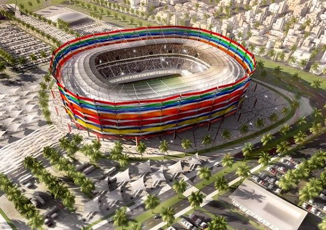 Tak mają wyglądać stadiony w Katarze.