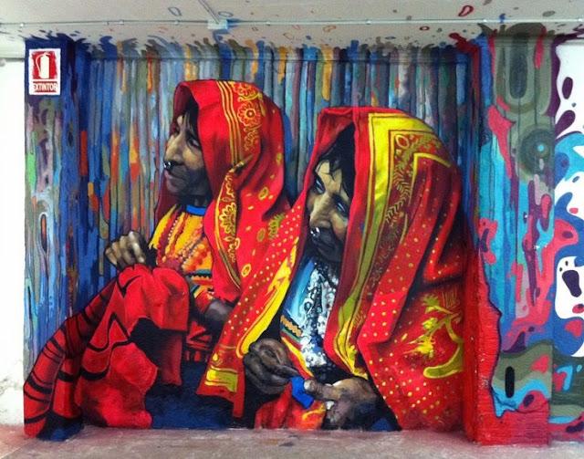 Poblenou e a street art em Barcelona