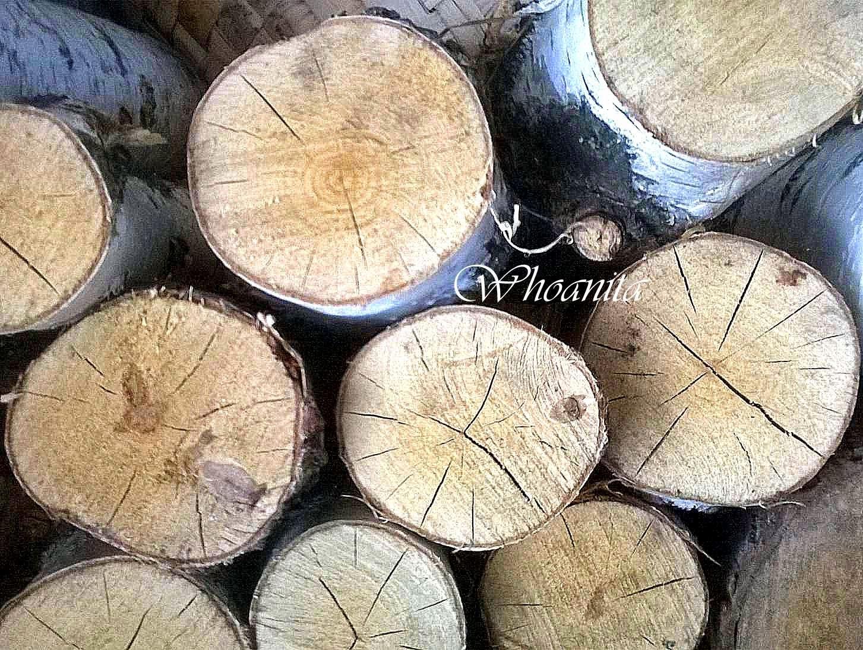 drewno opałowe, pomysł na torebkę, decoupage