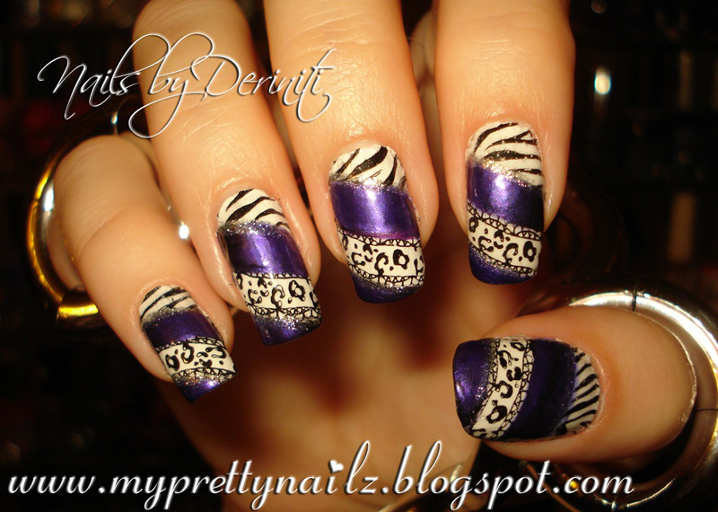 My pretty nailz animal print nail art stamping design and video buffy the violet slayer konad black special polish kiss nail art paint in silver glitter prinsesfo Choice Image