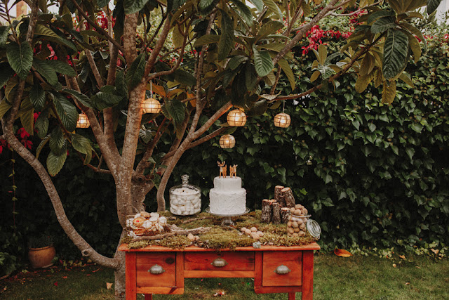 Blog Mi Boda - Editorial Wild Christmas - Candy Bar - ciervos