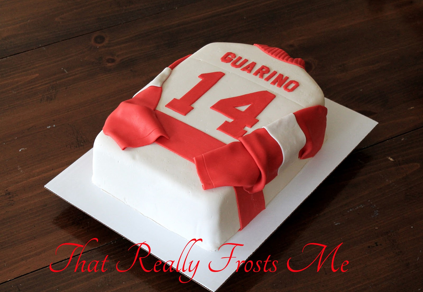 That Really Frosts Me Hockey Jersey Cake