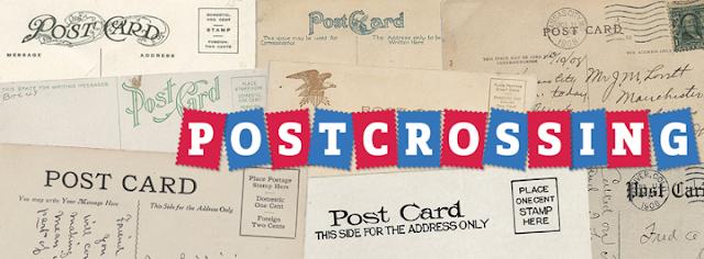 Postcrossing, carte postale, voyager, scrap, timbre, boîte au lettre, envoyer, courrier