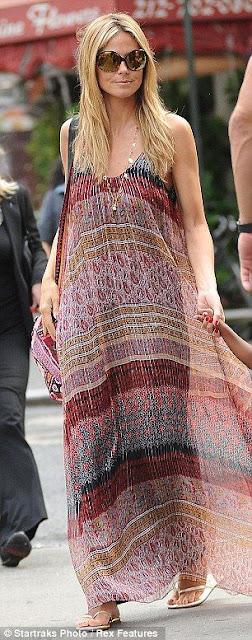 7 dias sete looks de Heidi Klum street style fashion street moda de rua