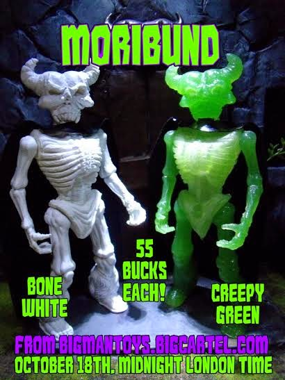Moribund Resin Action Figure by BigMan Toys - Bone White & Creepy Green Colorways