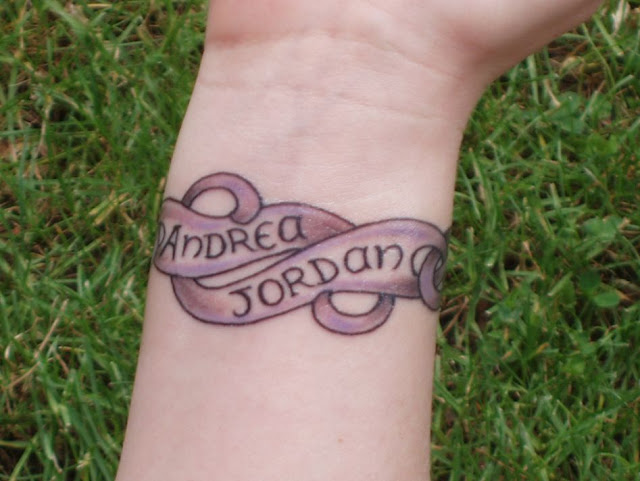 Wrist band name Tattoo Design