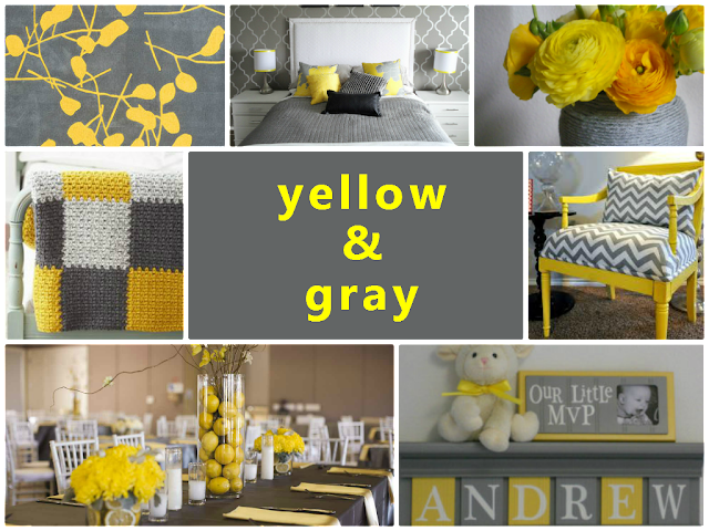 yellow and gray combination for home decoration