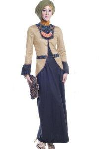 Esme Gamis E-010419 A - Coklat Susu Hitam (Toko Jilbab dan Busana Muslimah Terbaru)