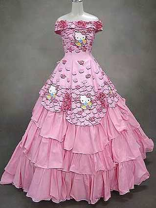 Daily Don 39t Hello Kitty Wedding Dress This dress might be appropriate if