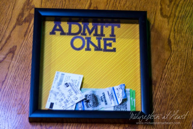 Admit One: What to do with Ticket Stubs