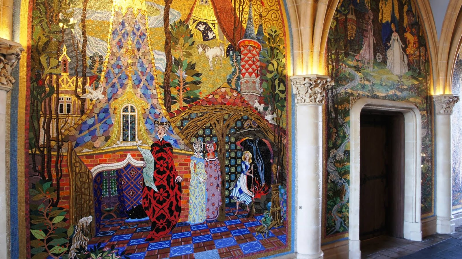 Magic kingdom fantasyland for Cinderella castle mural