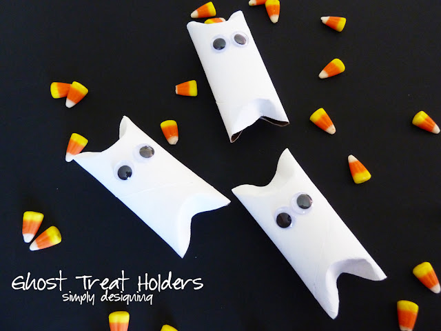 Ghost Treat Holders | simple Halloween kids craft | #halloween #ghosts #craft #diy #kidscraft #valueseekersclub