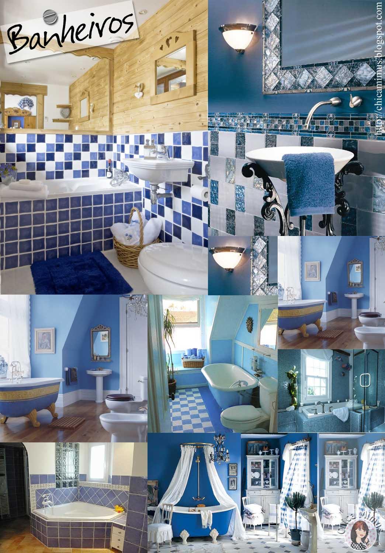 Banheiros: nada melhor que chegar em casa cansado e poder tomar aquela  #27486B 1044x1500 Banheiro Cor Azul