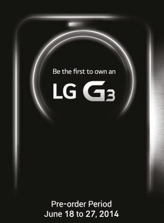 Get Freebies When You Pre-order LG G3 From June 18 to 27