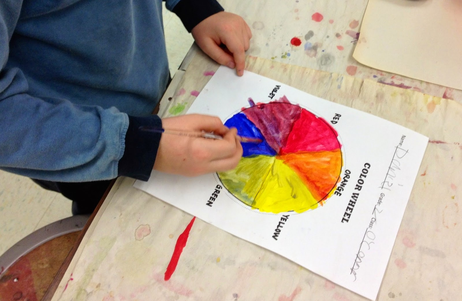 We Noticed That The Color Wheel Is Organized In A Way Helps You Remember Which 2 Primary Colors Make Secondary Because It Located