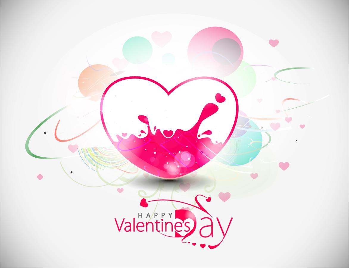 美しいバレンタインデーの背景 beautiful heart-shaped Valentine pattern イラスト素材5