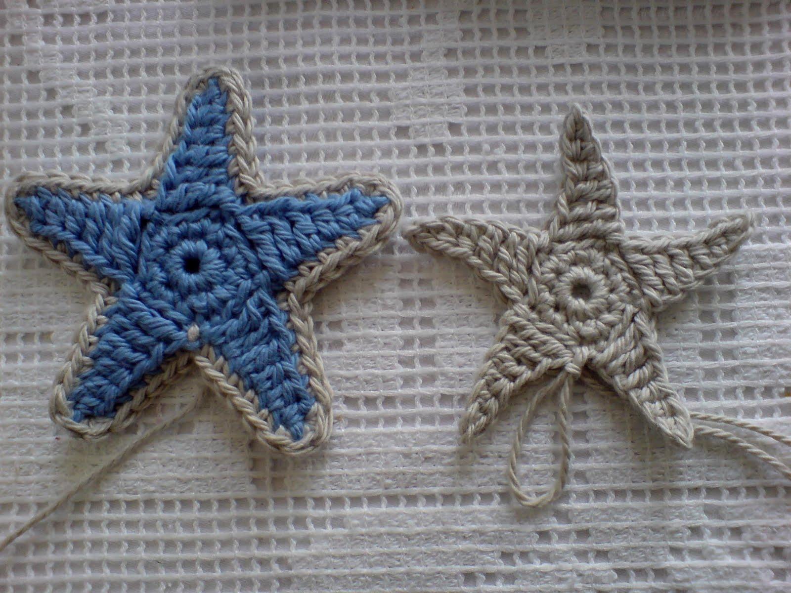 Free Crochet Pattern Starfish : MICROCKNIT CREATIONS: Seaside, Seashells, Starfish and ...