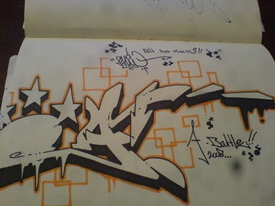 The Battle graffiti Black book on paper