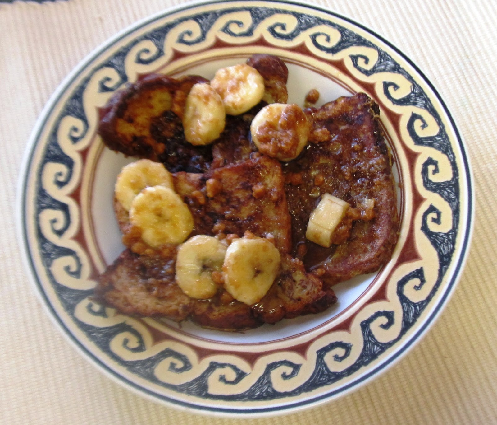 ... ... Healthy & Low Calorie: Peanut Butter Bananas Foster French Toast