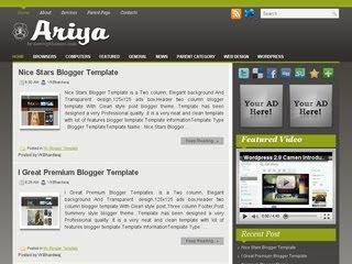 Ariya Blogger Template